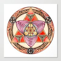 Pyramid Mandala Canvas Print