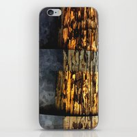 woodonmetalonwood iPhone & iPod Skin