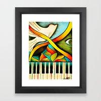 Piano- Behold Framed Art Print