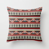 Dark Romance Tribal Throw Pillow