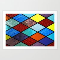 Hopscotch Of Colors Art Print