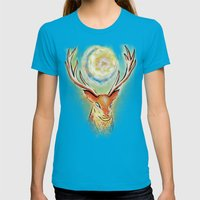 Spirit Stag Womens Fitted Tee Teal SMALL