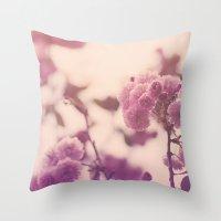 Summer Botanical Throw Pillow