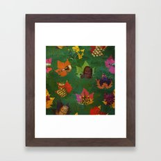 Autumn Grapes And Wine Framed Art Print