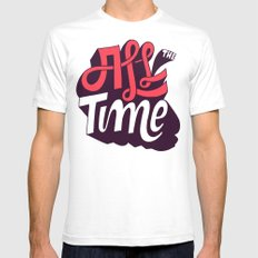 All The Time Mens Fitted Tee White SMALL