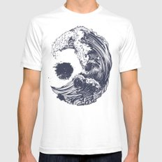 Swell White Mens Fitted Tee SMALL