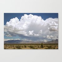 desert drive by Canvas Print