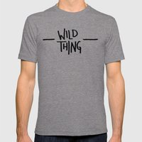 Wild Thing: Skagit Valle… Mens Fitted Tee Tri-Grey SMALL