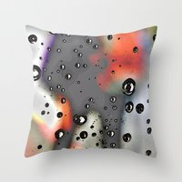 Pearly Dew Drops Drop Throw Pillow