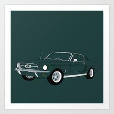 1968 Ford Mustang GT Art Print
