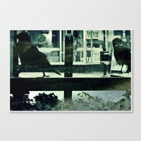 Small town afternoon Canvas Print