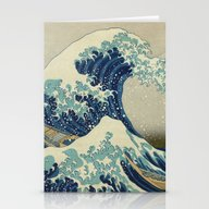 Stationery Cards featuring The Great Wave Off Kanag… by Palazzo Art Gallery