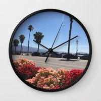 Santa Barbara Brunch Wall Clock