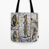 Chipmunk Collage Tote Bag