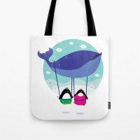 Whale ride Tote Bag