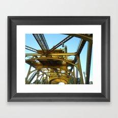 Holding Yellow Framed Art Print