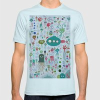 Sea Life Mens Fitted Tee Light Blue SMALL