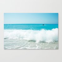 Minimal Turquoise Ionian… Canvas Print