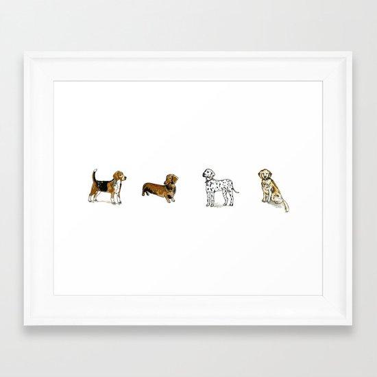 DogDogDogDog Framed Art Print