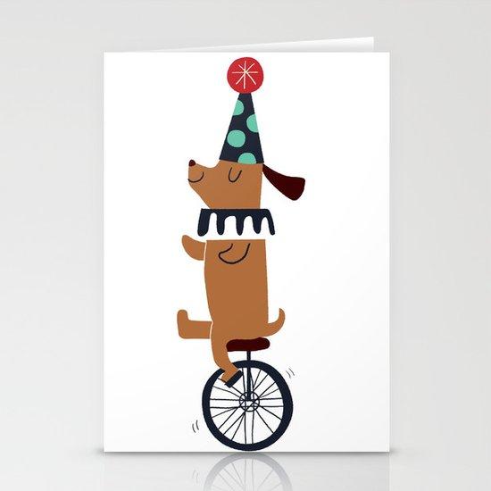 circus dog Stationery Card