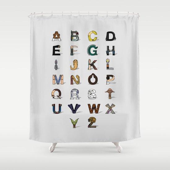 Star W. alphabet Shower Curtain
