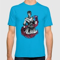 Morrigan Mens Fitted Tee Teal SMALL