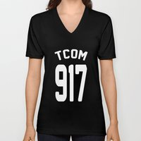 TCOM 917 AREA CODE JERSEY Unisex V-Neck