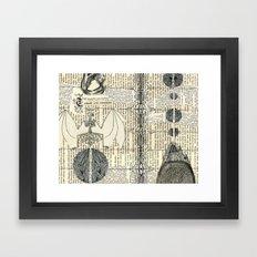 death and progress Framed Art Print
