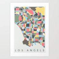 Los Angels Map Art Print
