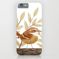 iPhone & iPod Case featuring Carolina Wren by Stephanie Fizer Coleman