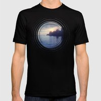 Sunset I C. II Mens Fitted Tee Black SMALL