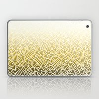 Ombre yellow and white swirls doodles Laptop & iPad Skin