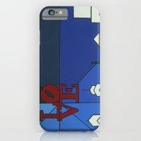 blue LOVE shine iPhone 6 Slim Case