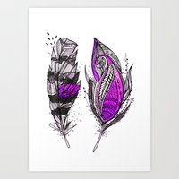 Purplish Art Print