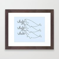 Whales! Framed Art Print