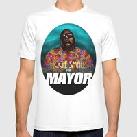 Biggie Smalls for Mayor Mens Fitted Tee White SMALL