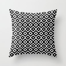 B&W Maze Throw Pillow