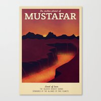 Retro Travel Poster Series - Star Wars - Mustafar Canvas Print