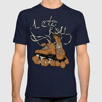 Let's Roll Mens Fitted Tee Navy SMALL