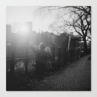 Two Boys in Berlin Canvas Print