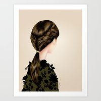 Twisted Ponytail  Art Print