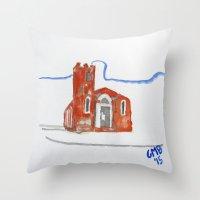Igreja Nossa Senhora do Rosário de Fátima Throw Pillow