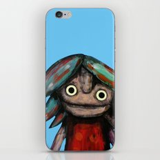 Girl vith teddy bear iPhone & iPod Skin