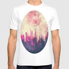 Mysterious city Mens Fitted Tee White SMALL