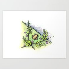 frog by the water Art Print