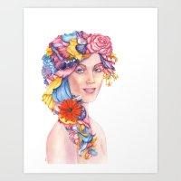 Goddess : Flora Art Print