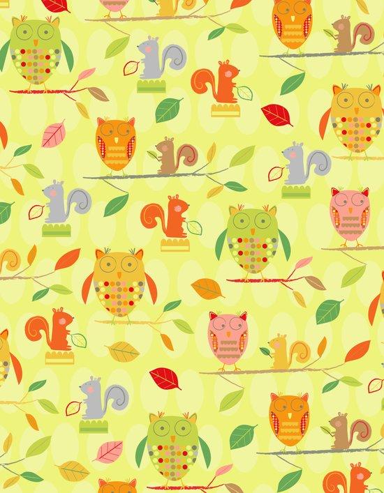 Owls and Squirrels Print Art Print