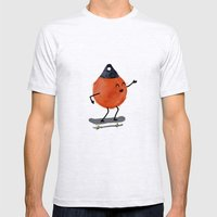 Skater Buoy Mens Fitted Tee Ash Grey SMALL