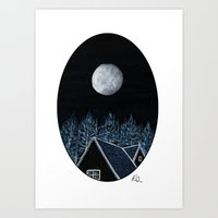 House At Night Art Print