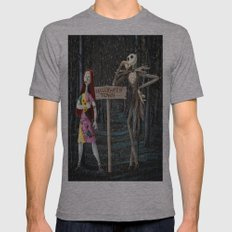 Halloween Town | Jack | Sally | Christmas | Nightmare Mens Fitted Tee Athletic Grey SMALL